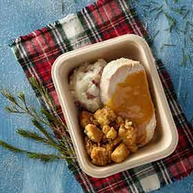 Roasted Turkey w/ Mashed Potatoes and Stuffing