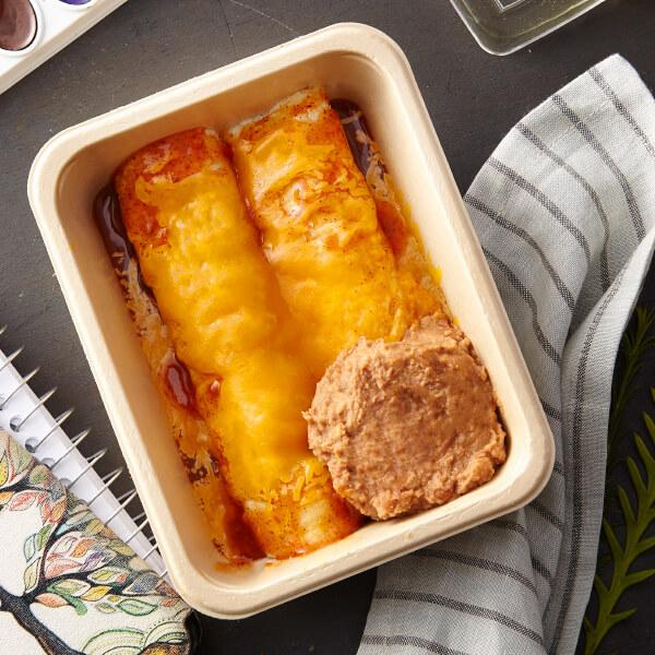Hand-Rolled Beef Enchiladas
