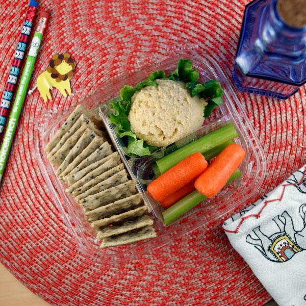 Hummus and Cracker Plate