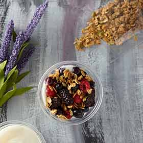 Yogurt Parfait w/Berries and Pumpkin Quinoa Granola