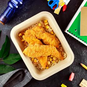 Gluten-Free Chicken Strips w/Brown Rice Pilaf