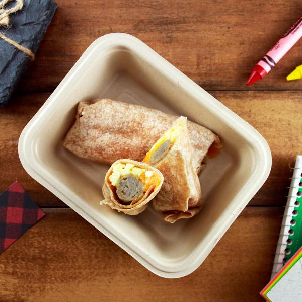 Sausage, Egg & Cheese Mini Burritos