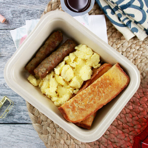 French Toast, Eggs & Sausage