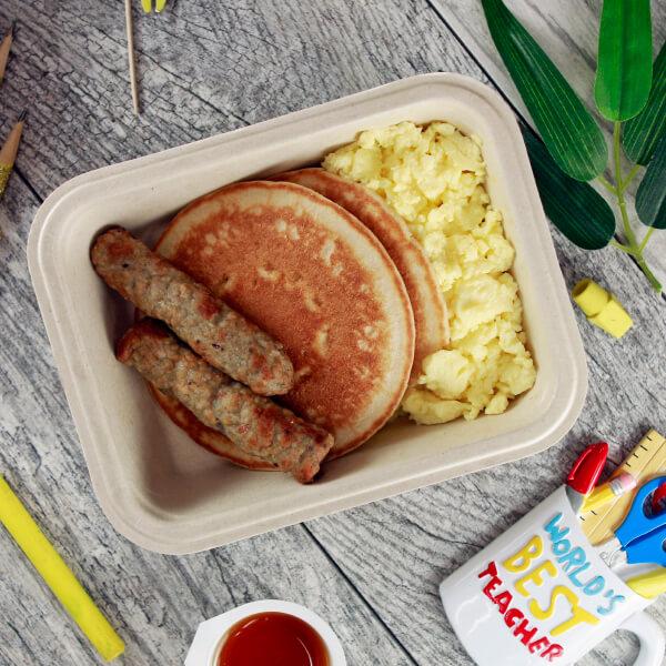 Pancakes, Eggs & Sausage