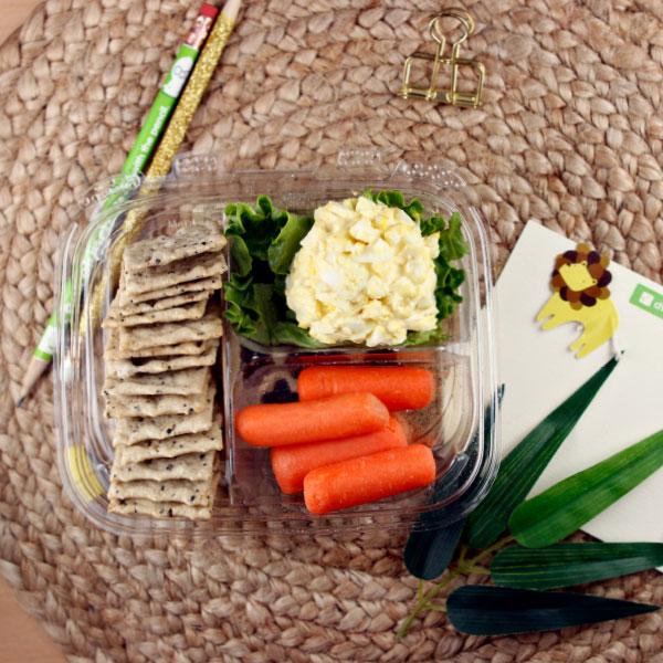 Egg Salad and Cracker Plate