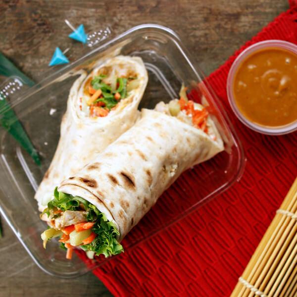 Thai Chicken Flatbread Wrap