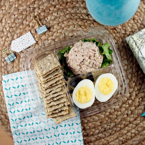 Tuna Salad and Cracker Plate