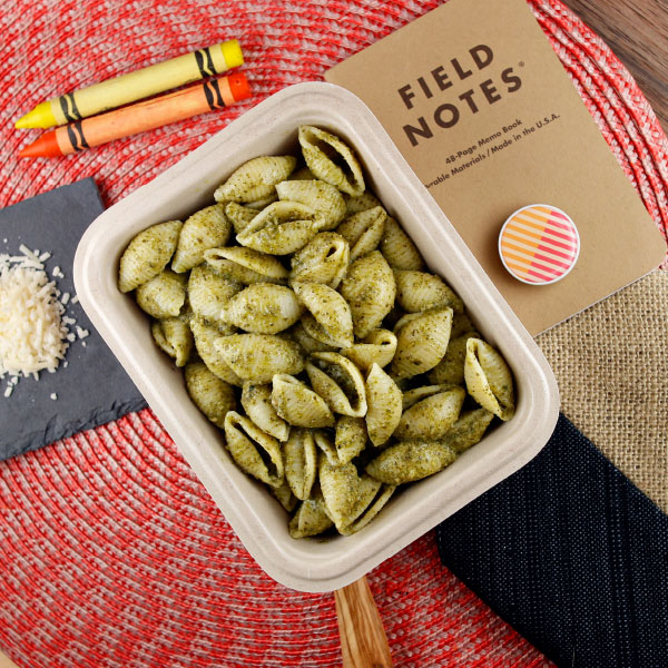 Wagon Wheel Pesto Pasta